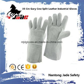 35cm graue Kuh Split Leder Industrie Hand Sicherheit Schweißen Arbeit Handschuh