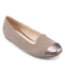 Tela de splicing ballerina quadrado toe senhoras 2016 sapato planos