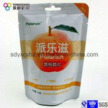 Bolsa de plástico de alimentos secos de embalaje con agujero de la manija