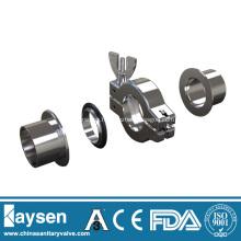 KF Abrazaderas de vacío de aluminio