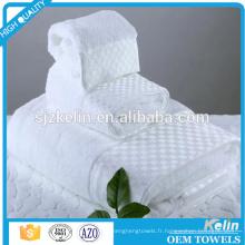 taille personnalisée 100% coton blanc palais royal hôtel serviette de bain
