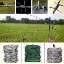 Alambre de púas alambre de púas electro galvanizado alambre de púas galvanizado caliente por tonelada