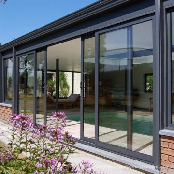 Aluminum lift Sliding Doors with Aluminum Alloy Frame Sliding Tempered Laminated Double Triple Glazed Pane