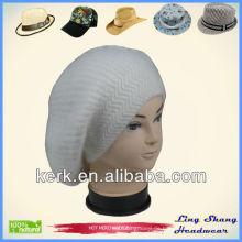 Angora und Wolle gestrickte Hut Angora Hut Kaninchen Preis gestrickt Fedora Top Hüte, LSA46