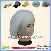 Angora e lã malha chapéu angora chapéu coelho preço malha fedora top chapéus, LSA46
