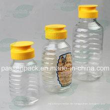 350g Plastik-Honig-Glas mit Non-Drip Silikon-Ventilkappe (PPC-PHB-06)