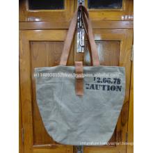 Grey Screen Print Bag