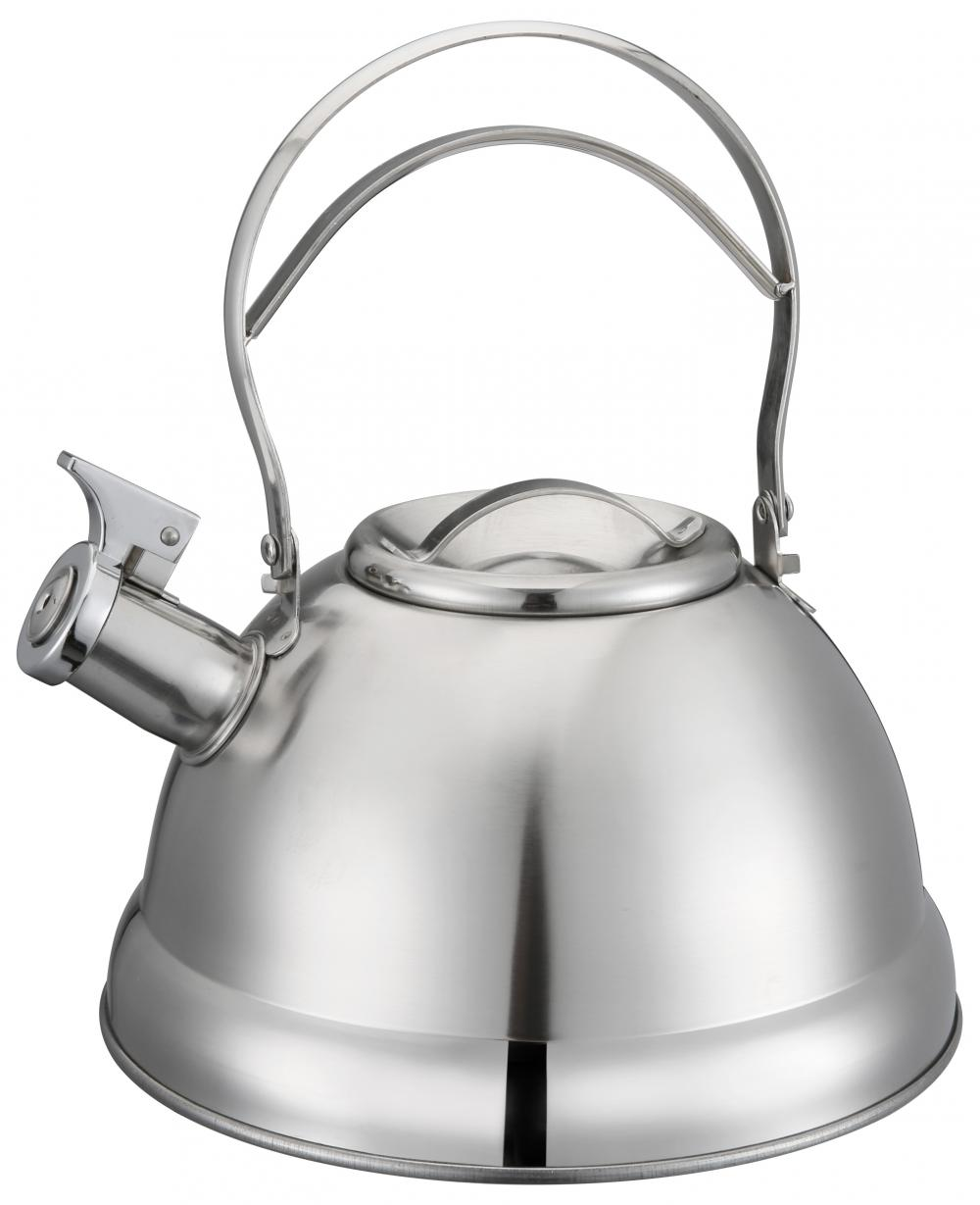 Hollow Out Handle Silver Whistling Kettle