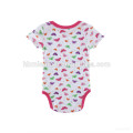 2017 new design soft toddlers 100% cotton printing onesie sweet infant baby girl bodysuit floral romper