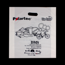 Patch Handle Custom Plastic Shopping Merchandise Bag