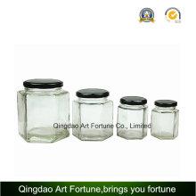 Стеклянная бутылка Jar с металлической жестяной крышкой для хранения