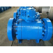 Epoxy-Beschichtung Schneckengetriebe geschmiedetes Flansch-Carbon-Stahl-Kugelhahn