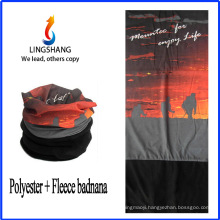 LINGSHANG fashion warm tube seamless bandana polar fleece multifunctional bandana