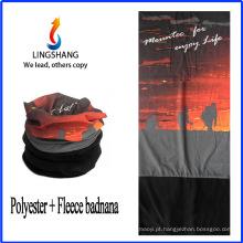 LINGSHANG forma quente tubo bandana transparente bandana fleece multifuncional bandana