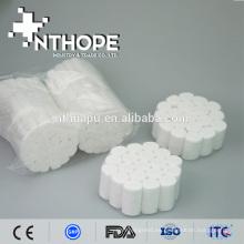rollo de algodón dental absorbente médico para el dentista