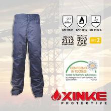 calças de nylon da proteção contra incêndios do algodão da qualidade superior para a segurança rodoviária