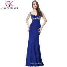 Grace Karin más calientes Beadings Sexy Graceful Sirena vestido de noche CL6096-4