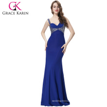 Grace Karin Hottest Beadings Sexy Graceful Mermaid evening dress CL6096-4