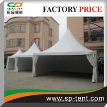 Weißes pvc aluminium rahmen pagode mongolei zelt 5x5m mit pvc fenstern