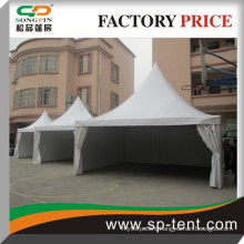 white pvc aluminum frame pagoda mongolia tent 5x5m with pvc windows