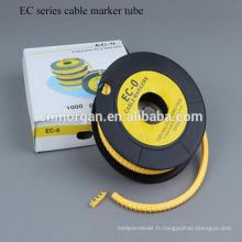 Tube plat de rétrécissement de câble de type de la chaleur d'EC, douille de câble avec la couleur adaptée aux besoins du client