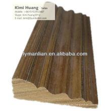 zócalos de molduras de madera de teca