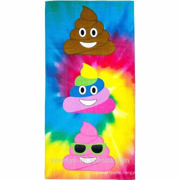 100% cotton extra soft beach towel--rainbow emoji