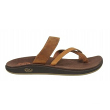 2,5 mm Lug Tiefe Vollnarbenleder Slip-on Sandalen