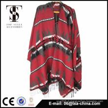 Nouveau style de conception de haute qualité écharpe écharpe jacquard poncho