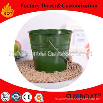 Sunboat qualité émail eau seau / seau d'eau