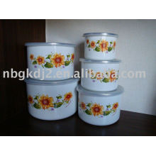 porcelain enamel mixing bowl sets for promotion
