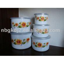 conjuntos de tigela de esmalte de porcelana para promoção