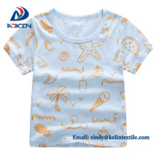Customized colorful polyester cotton children's t shirts print