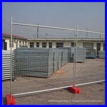 Clôture temporaire avec des panneaux de cloisonnement soudés / panneaux de clôture temporaires vente chaude