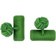 Boutons de manchette en soie élastique personnalisé vert baril