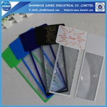 PVC magnifying plastic sheet with ruler