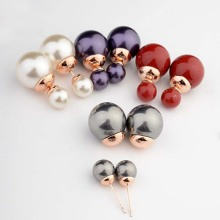 Double Studs 10mm Pearl Earrings