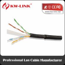 Fábrica de Shenzhen par trenzado al aire libre UTP FTP SFTP Cat5e Cat6 cable de red 1000 pies / rollo