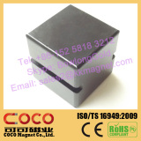 Large Cube Block Shape and Permanent NdFeB Magnet Component for M Watt Electrical Generator and Large Horsepower Motors