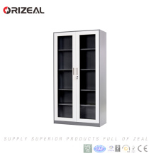 Orizeal High Quality 5 Layer Metal Storage Cabinet With 2 Glass Doors Special offer(OZ-OSC005)