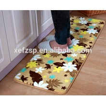 home decor100% polyester decorative floor tile bath waterproof mat 100% polyester round foldable waterproof picnic rug