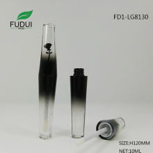Gradient plastic empty lipgloss tube with flower