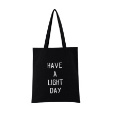 Promotion Eco-Friendly Wholesale Black Tote Grocery Bags Canvas Recycled Shopping Bag with Custom Printing Logo