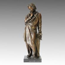 Figura clásica músico de la estatua Beethoven escultura de bronce TPE-016