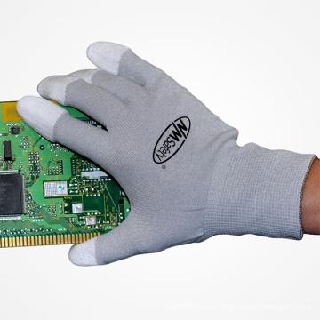 NMSAFETY pu guante de seguridad china guantes de trabajo guantes eléctricos de mano