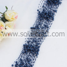 3+8MM Navy Blue Imitation Pearl Link Beaded Garland