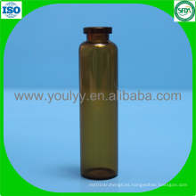 Botella de vidrio ámbar