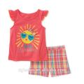 2017 мода дети летняя одежда устанавливает бутик наборы оптом Детская одежда с рубашка без рукавов и короткие штаны