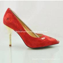 Nouveau style dames de mode chaussures talons hauts chaussures de mariage (OLY16311-12)