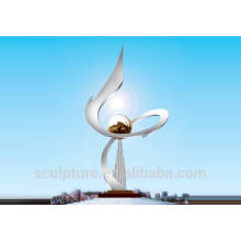 2015 New Large Outdoor Stainless Steel Sculpture Modern Metal Garden Sculptures natural
